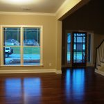 Dining room & foyer with hardwood