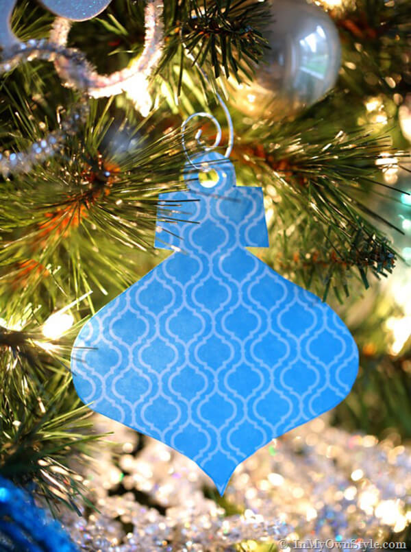 Nearly Home-Made Blue Paper Ornament