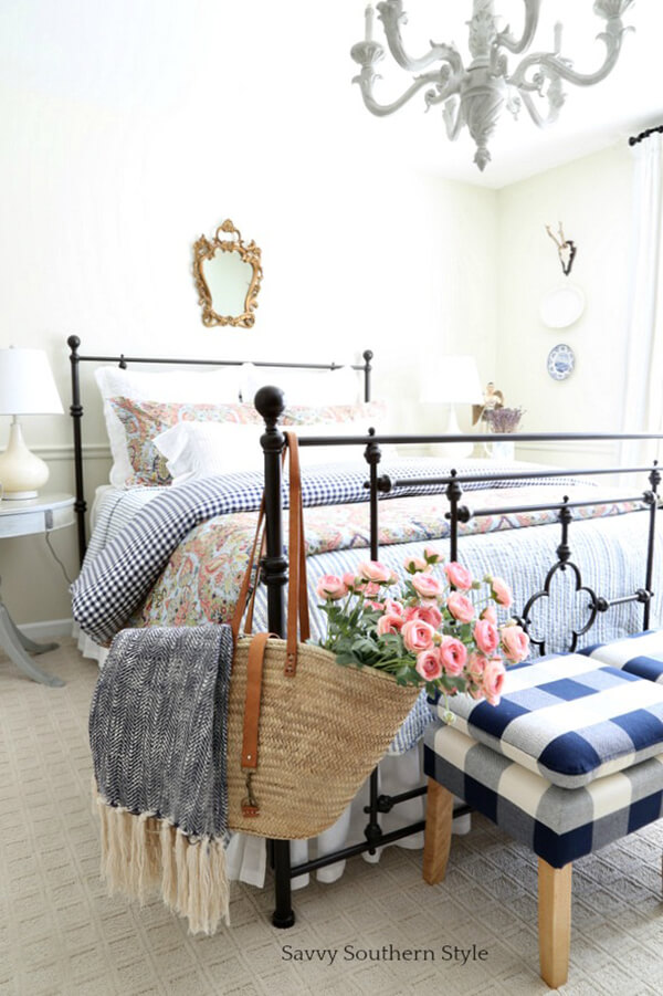 Buffalo Plaid, Southern Charm Style Bedroom