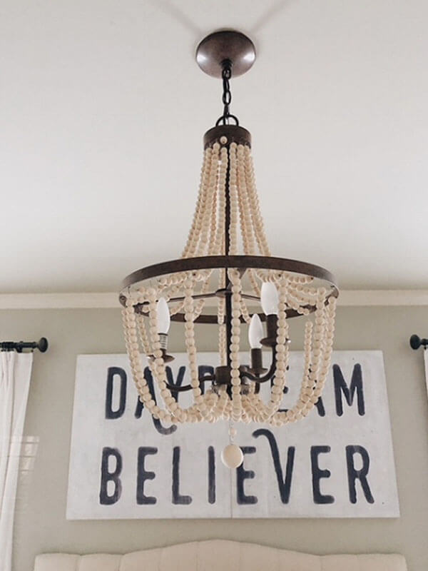 Bedroom Update with a Romantic Chandelier
