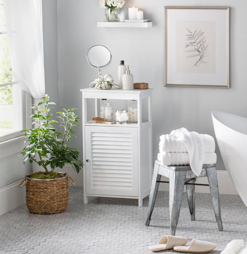 Contemporary Style Bathroom Organizing Cabinet