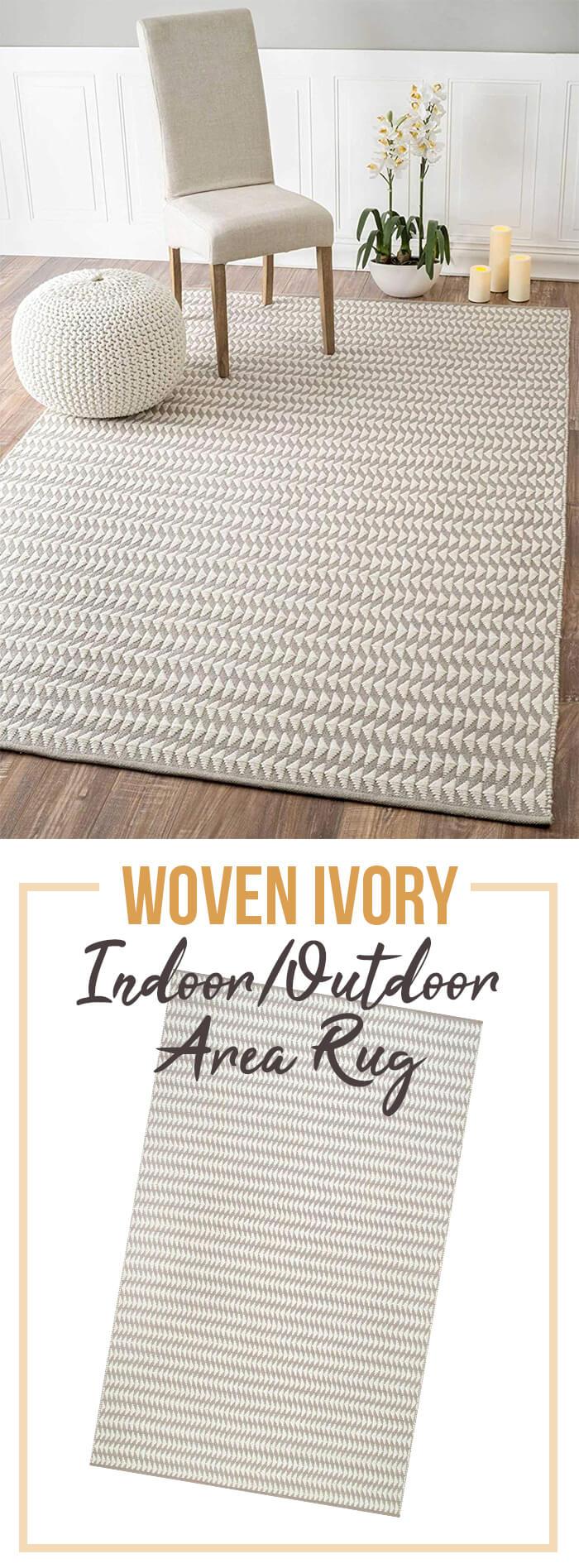 Corrigan Studio Indoor/Outdoor Ivory Area Rug