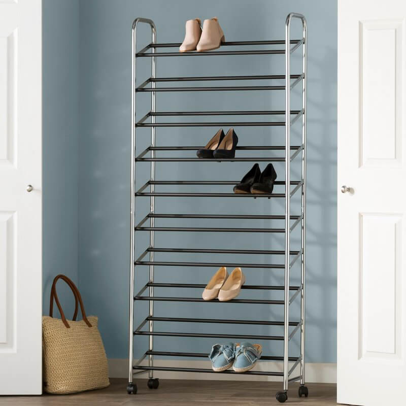 The Rack that Rolls with Your Shoes