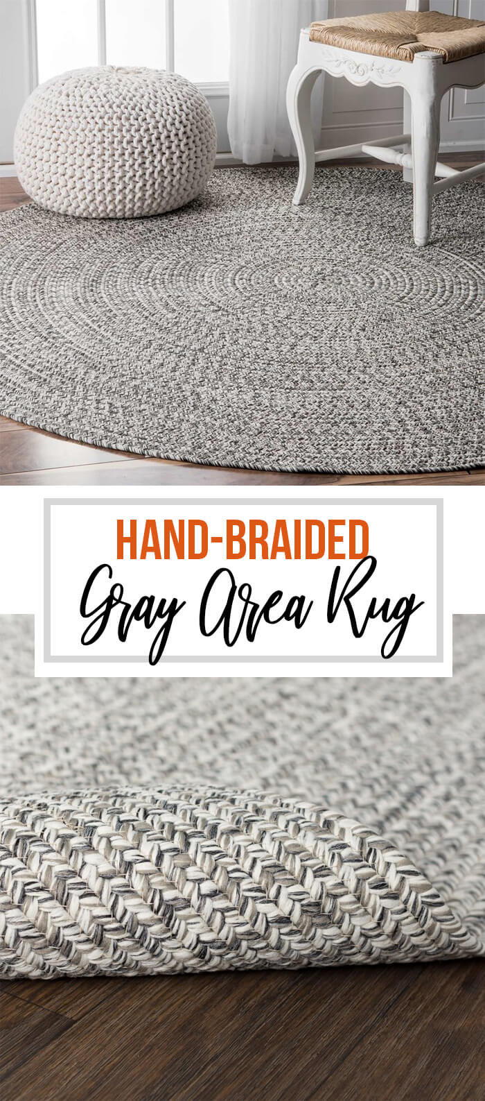 Define Space with the Kulpmont Hand-Braided Area Rug
