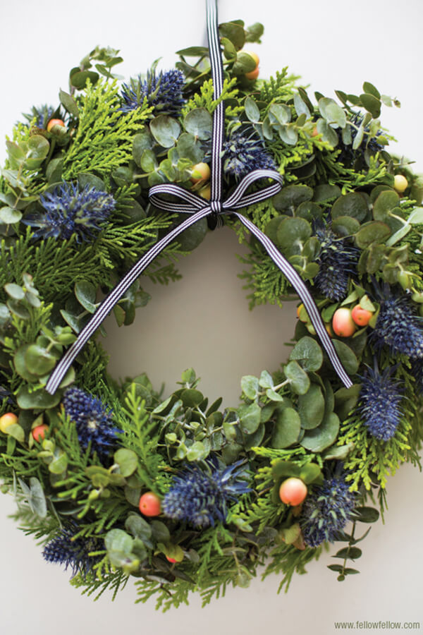 All Natural Friendly Winter Wreath