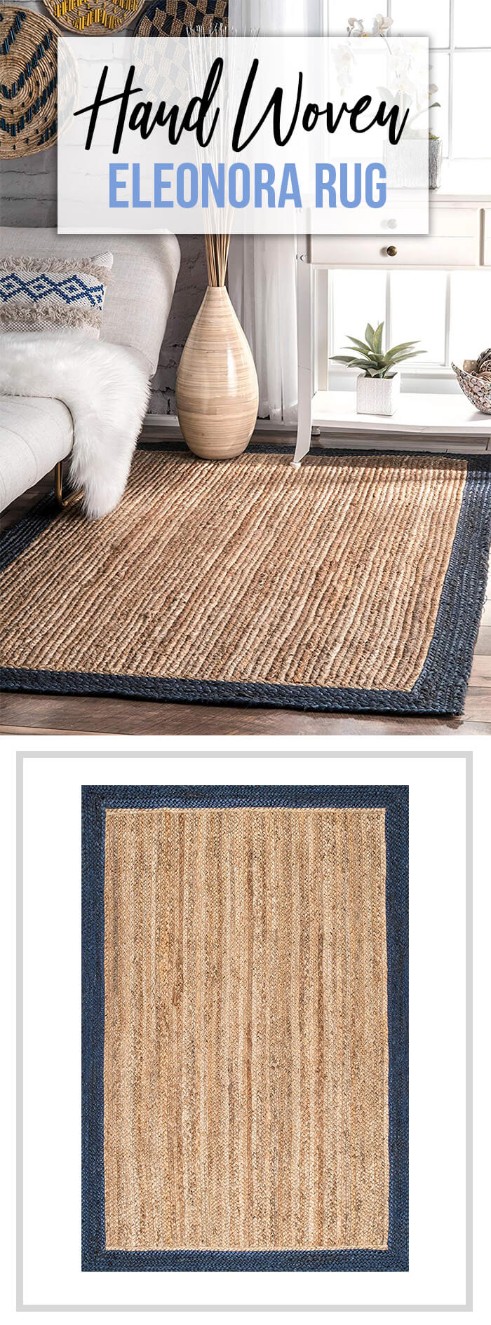 Comfortable, Functional & Eco-Friendly Woven Eleanora Rug