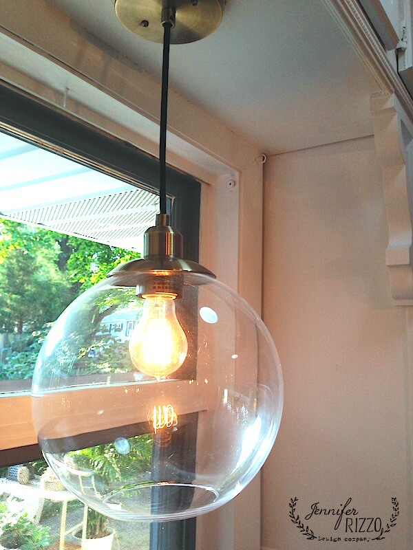 Clear Globe Pendant with Warm Light