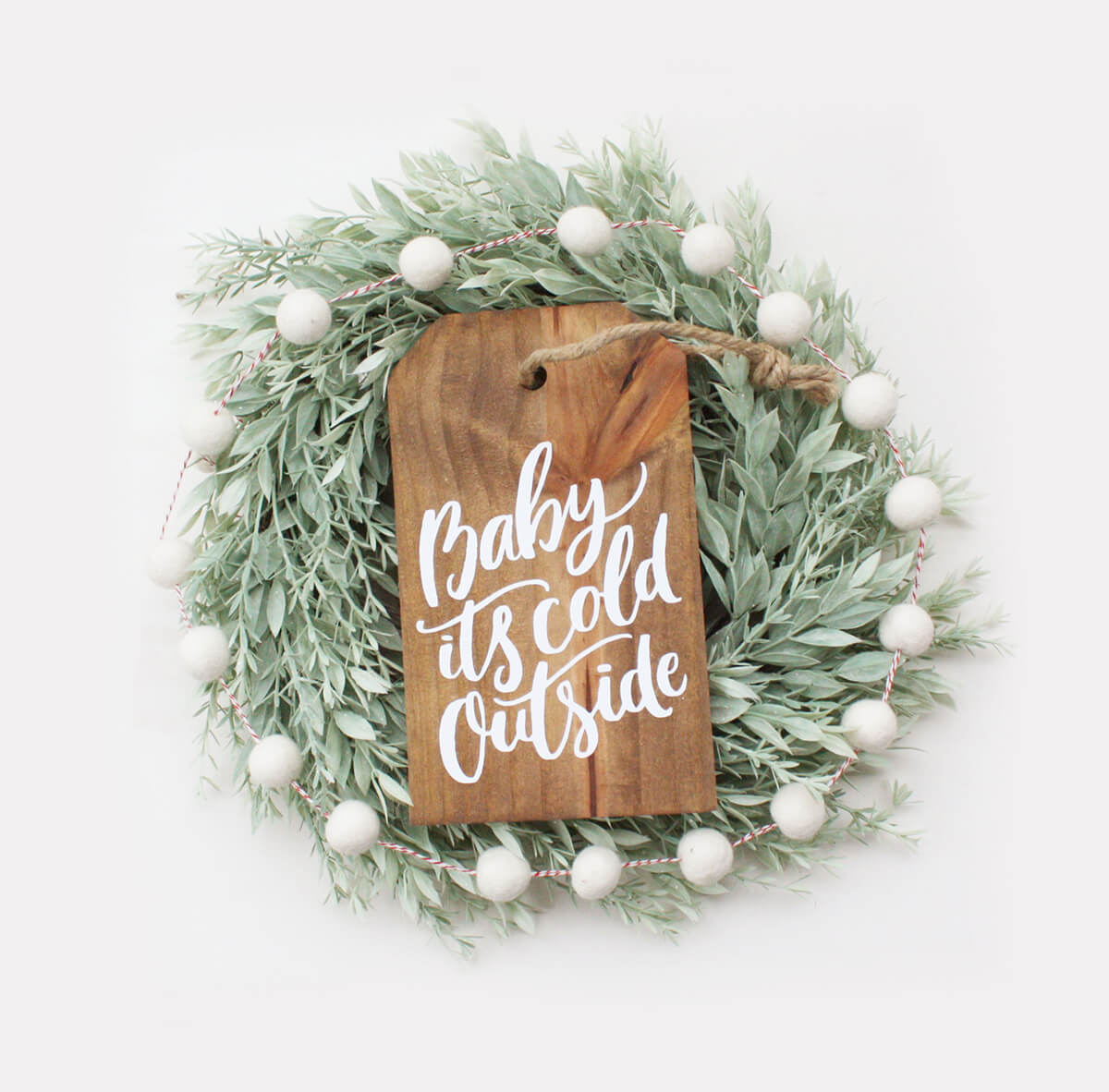 Baby, It's Cold Outside Hanging Sign
