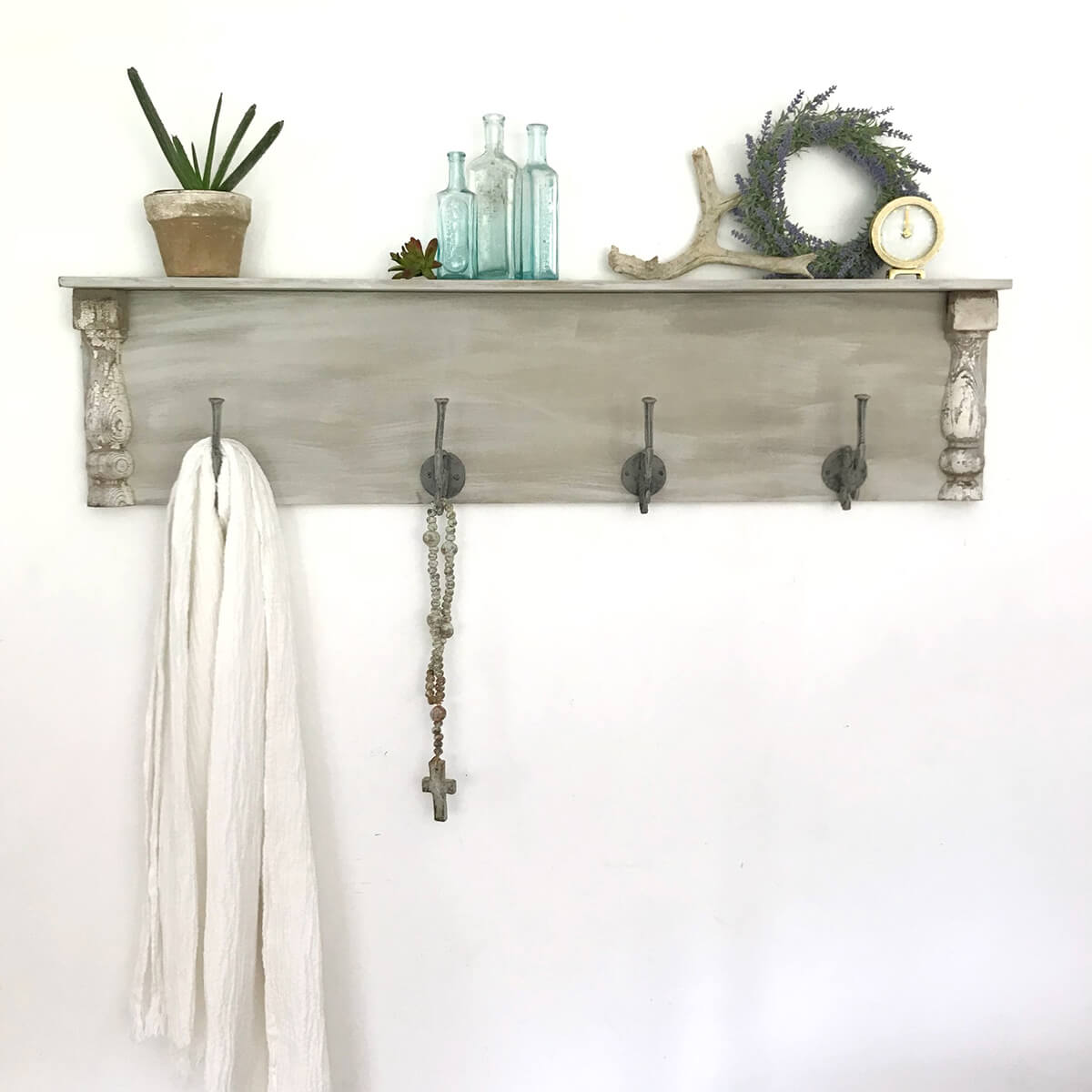 Simple Nautical Hook & Display Shelf