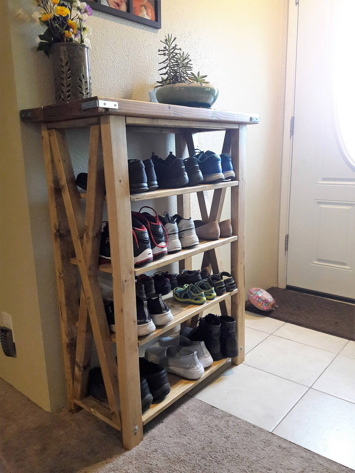 Four-Tiered Sturdy Shoe Shelf