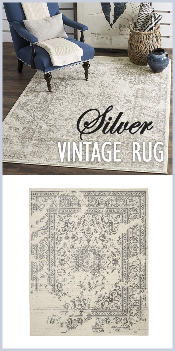 Stylish Antique Rustic Glam Farmhouse Area Rug