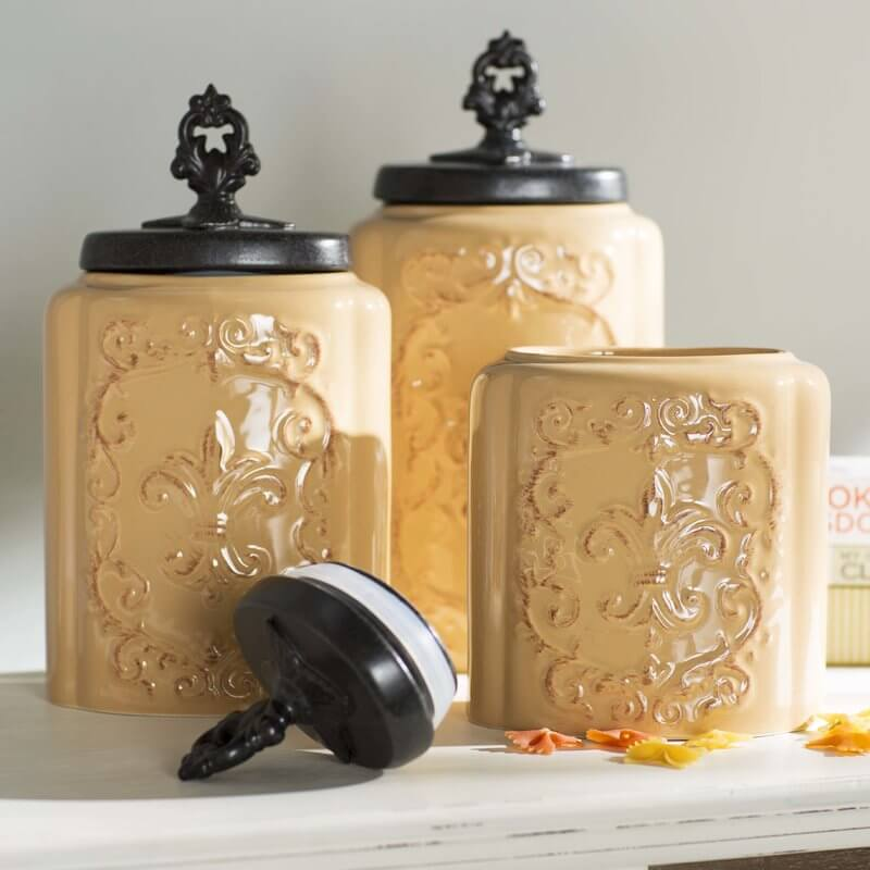 Canister Set For Old World Kitchen Charm