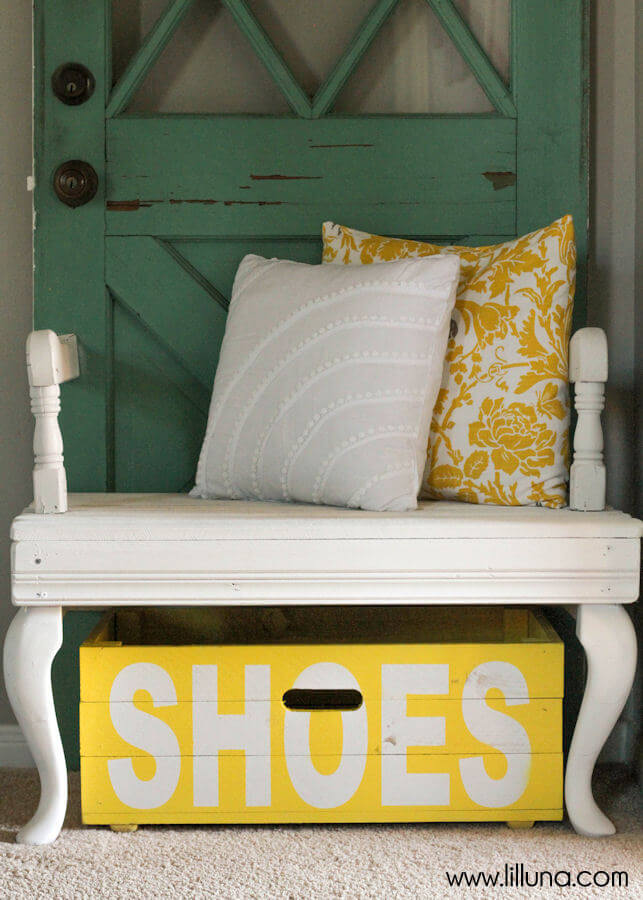 Bright and Colorful Painted Shoe Box