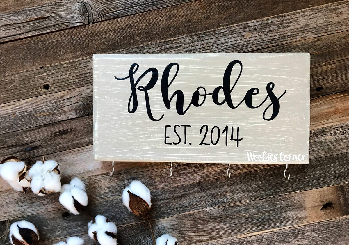 Personalized Last Name Key Holde