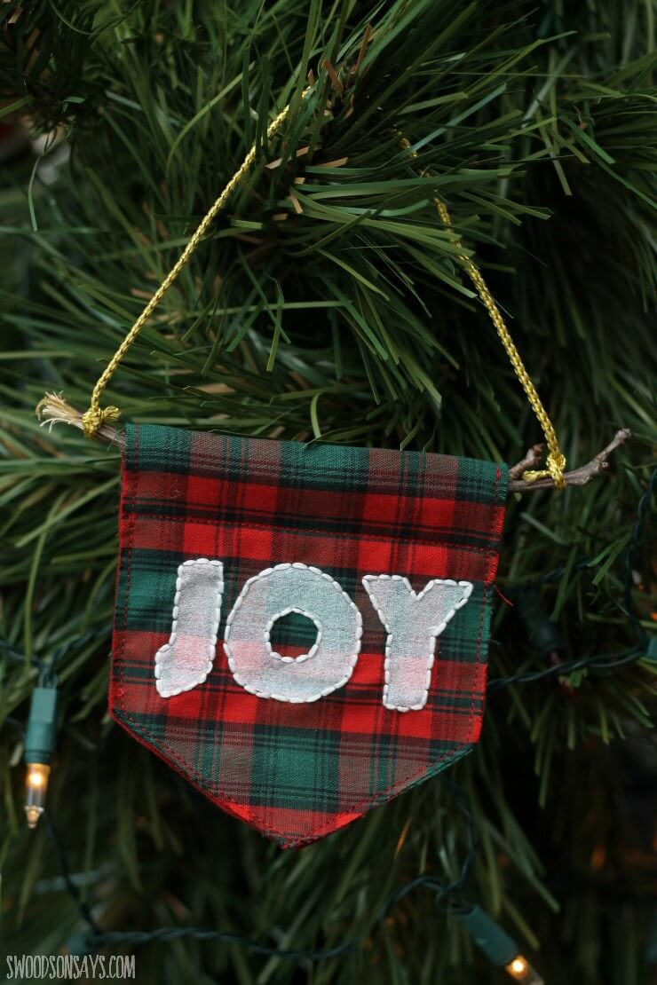 Small Joy Banner Plaid Bulb
