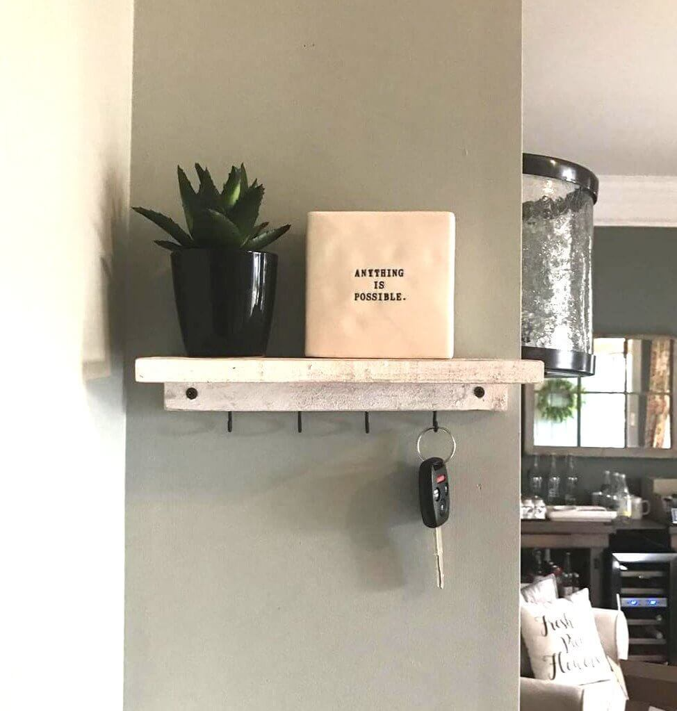 Shabby Chic Shelf and Key Rack