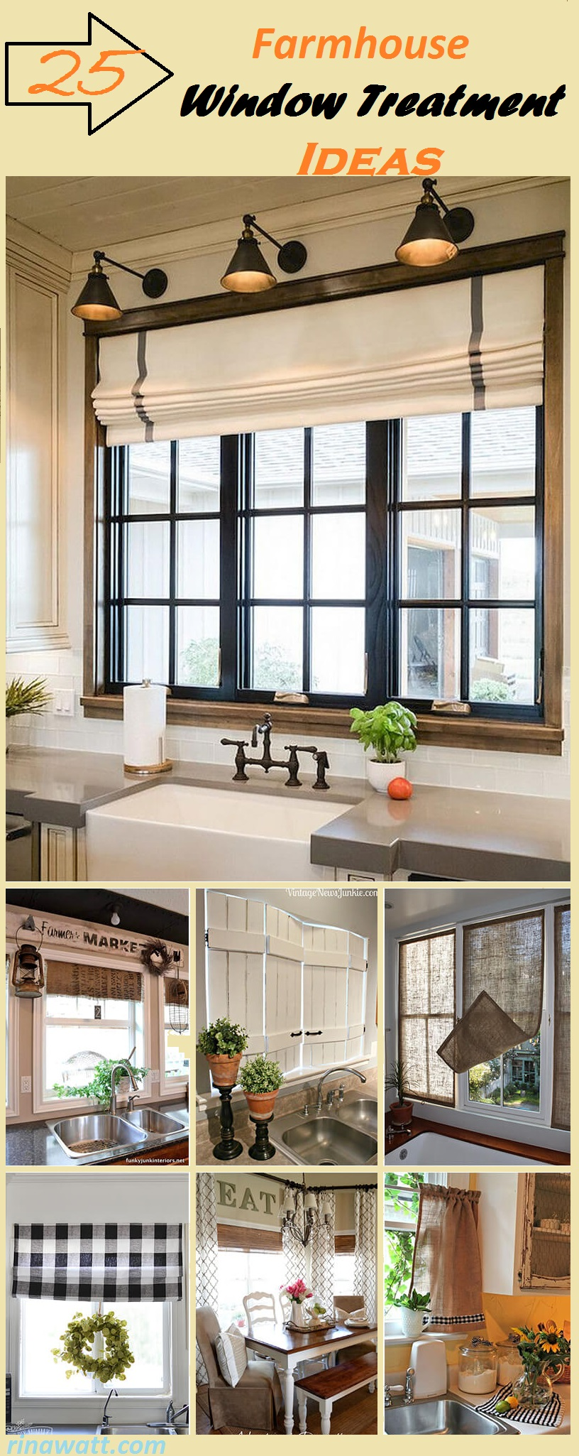 25 Farmhouse Window Treatment Ideas To Bring Old Fashioned Charm To Your Home Rina Watt Blogger Home Decor Diy And Recipes