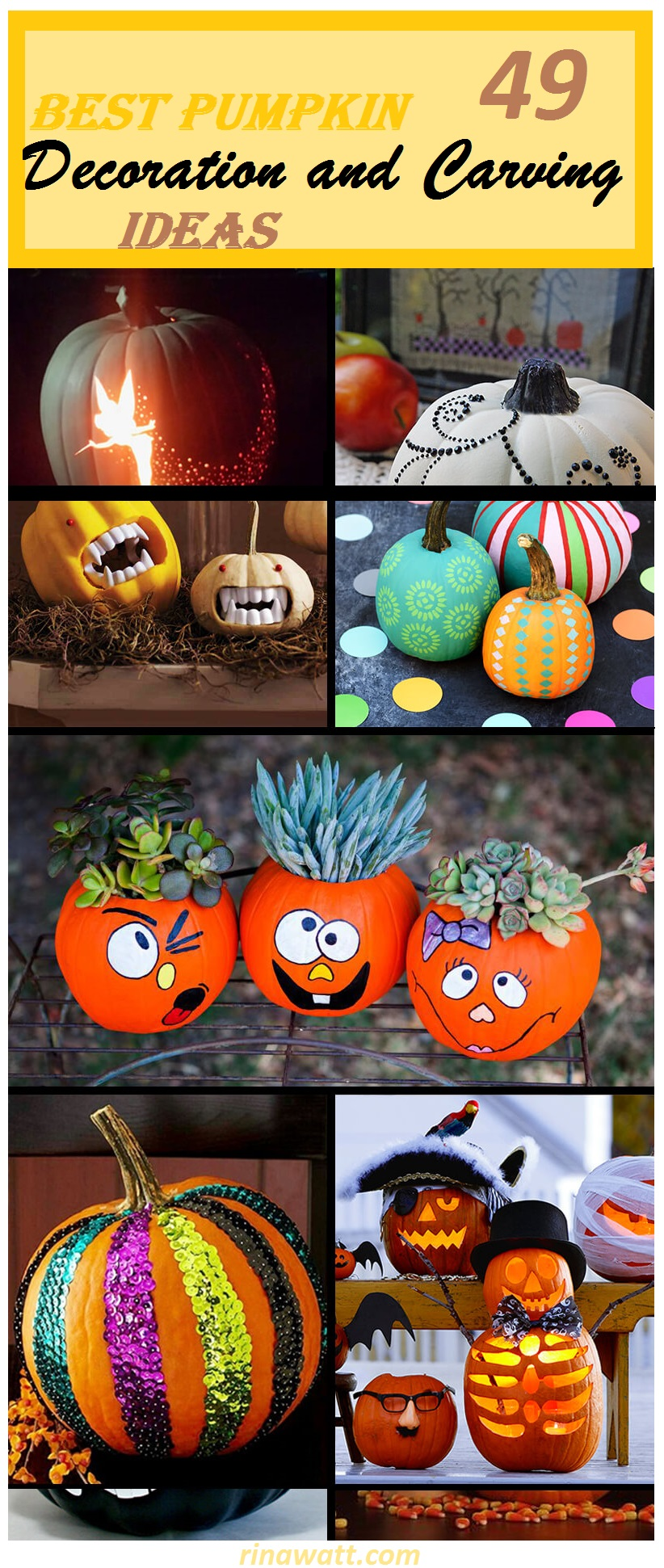 The 49 Best Pumpkin Decoration And Carving Ideas For