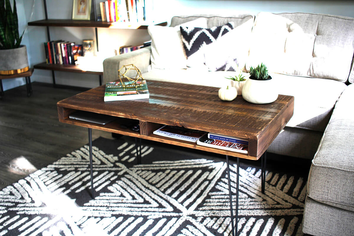 Rustic Pallet Turned Functional Coffee Table