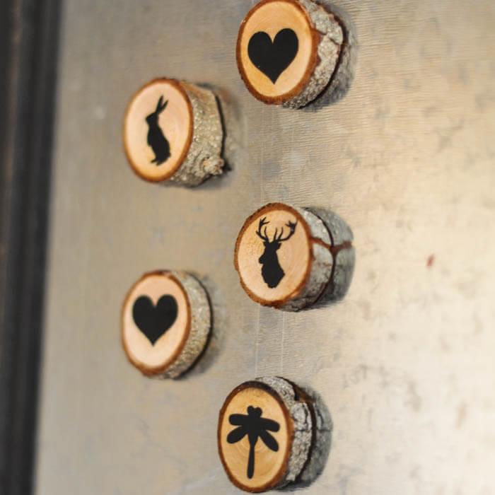 Rustic Flair Woodland Mini Magnets