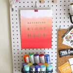 Colorful Pegboard Organizer for Your Craft Room