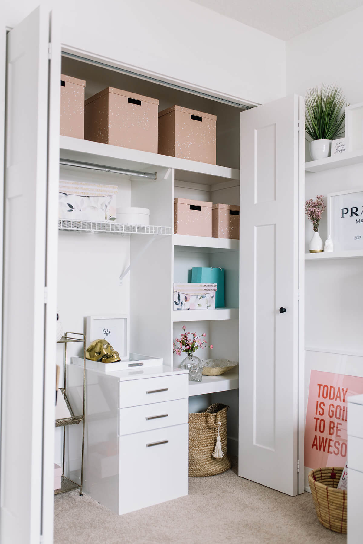 Secret Home Office Closet Makeover