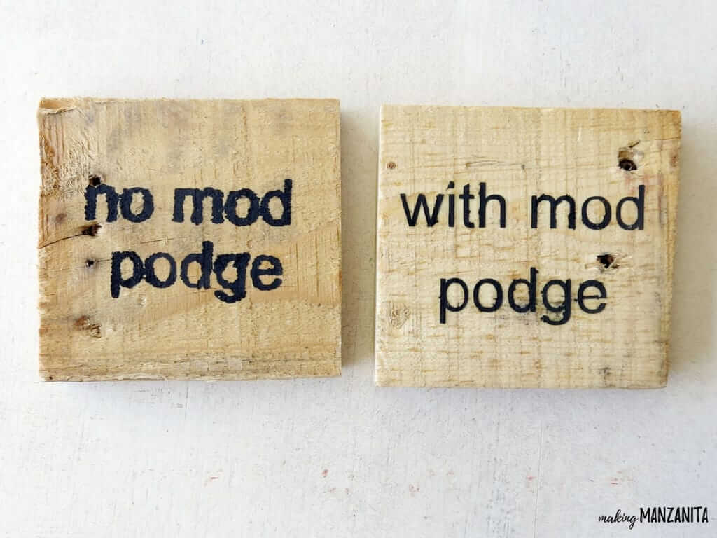 Simple Wooden Stencil Sign Using Mod Podge