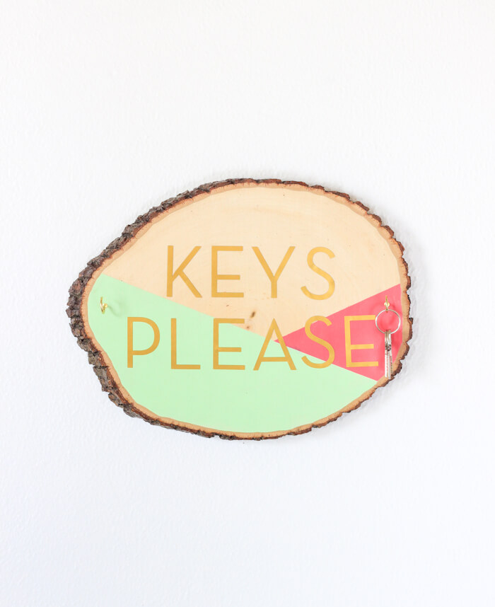 Beautifully Painted Wooden Slab Key Holder