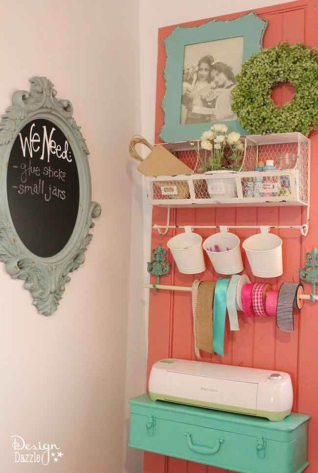 Repurposed Crafting Wall Organizing Unit