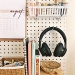 Wall Desk Organizer for Dorm Rooms