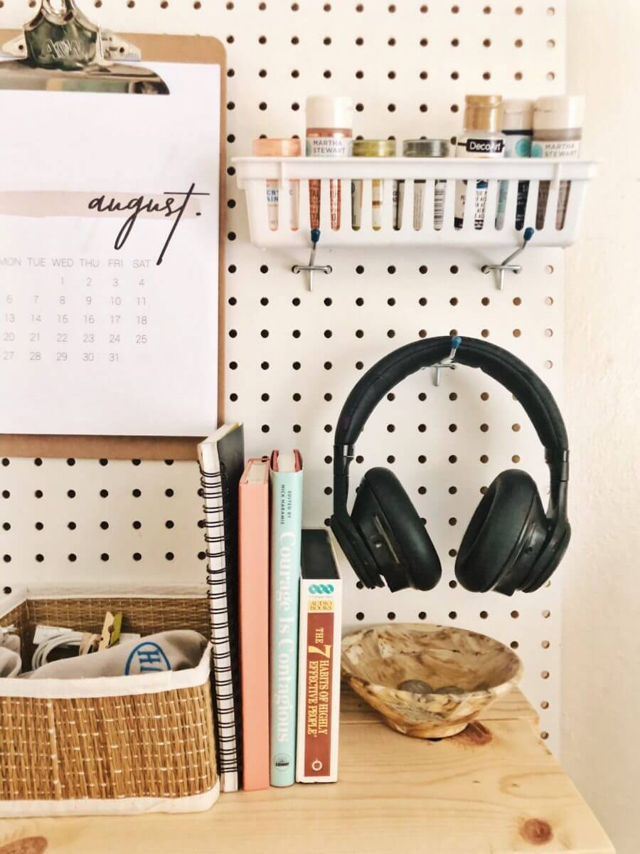 Wall Desk Organizer for Dorm Rooms
