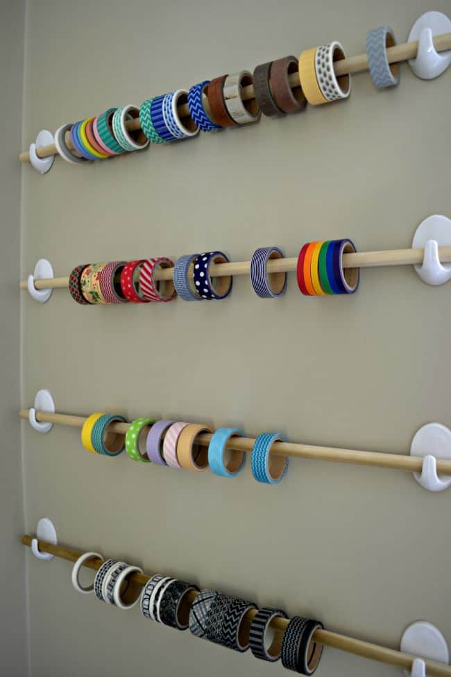A Simple Ribbon Wall Organizer