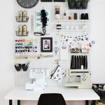 Wall-to-Ceiling Pegboard Organizer for Craft Room