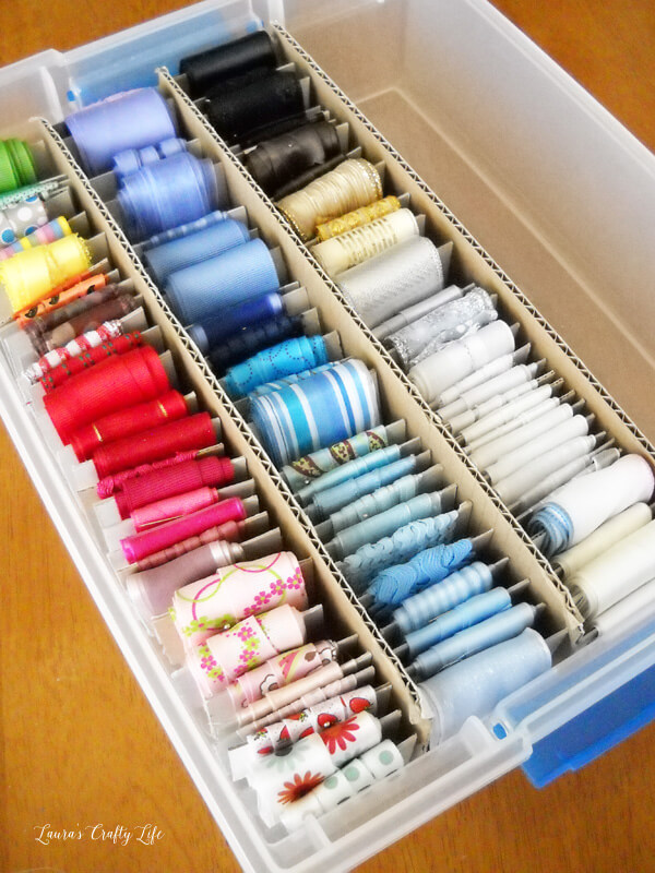 Plastic Tub Hanging Sewing Accessories Storage