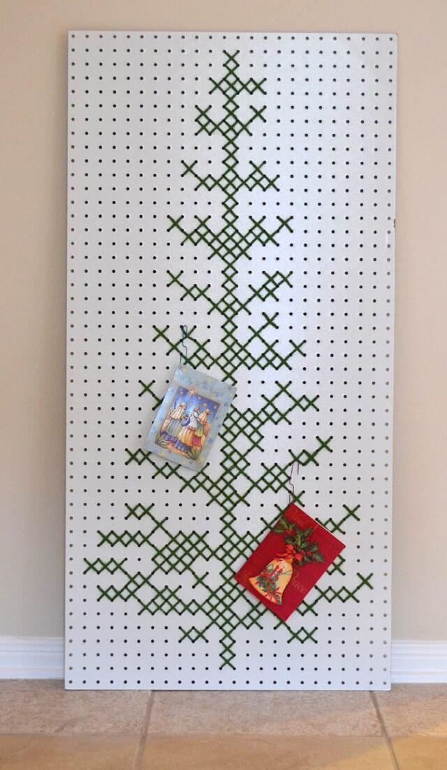 Cross Stitch or Cutout Christmas Tree