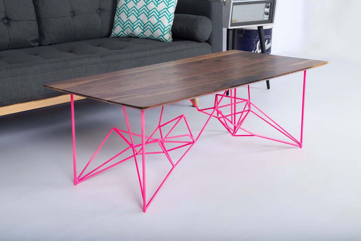 Industrial Table With Stylish Geometric Legs