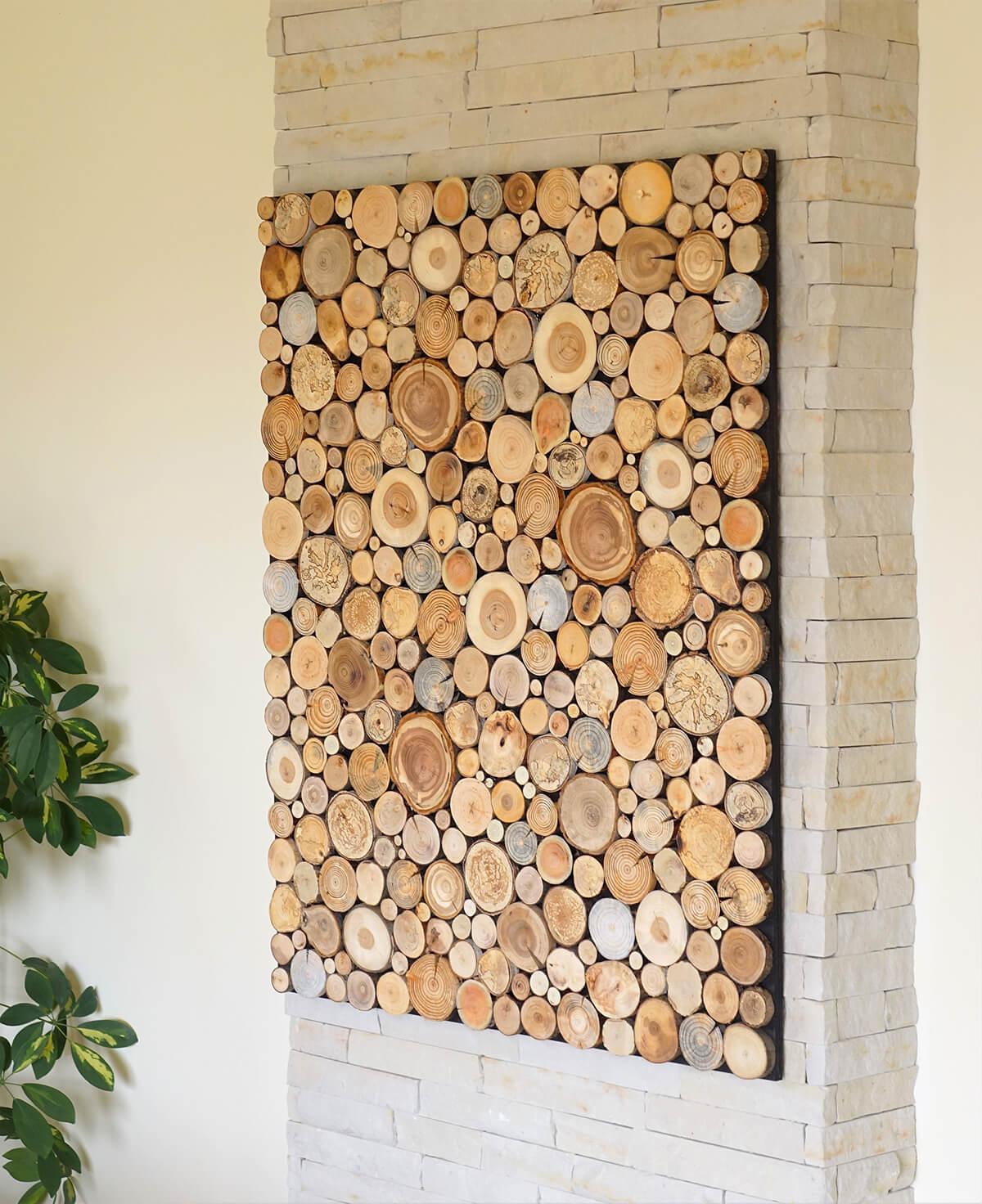 Wood Sliced Natural DIY Wall Art
