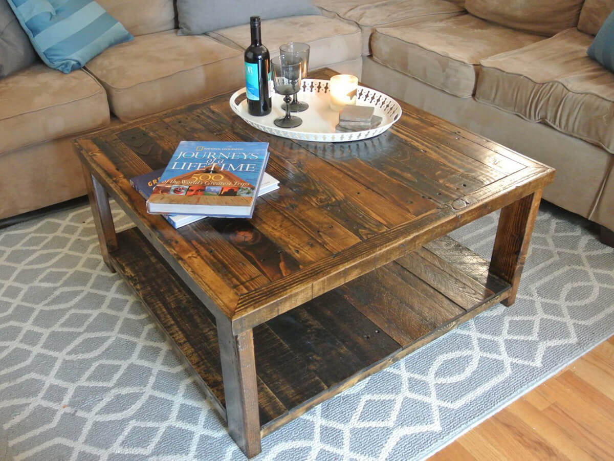 Completely Unique Reclaimed Pallet Wood Table