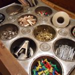 Repurposed Muffin Tin Craft Organizer