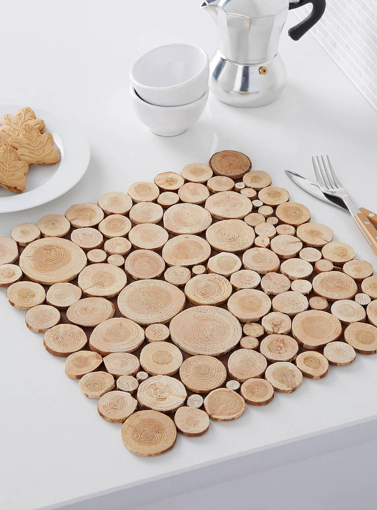 Mini Wooden Slice Table Mat