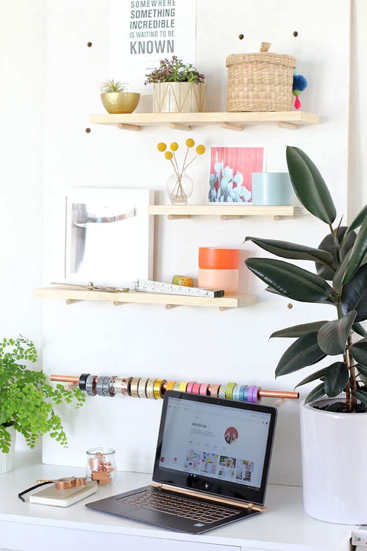 DIY Pegboard Organizer for Large Size Items