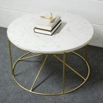 Upscaled Round Marble Table and Steel