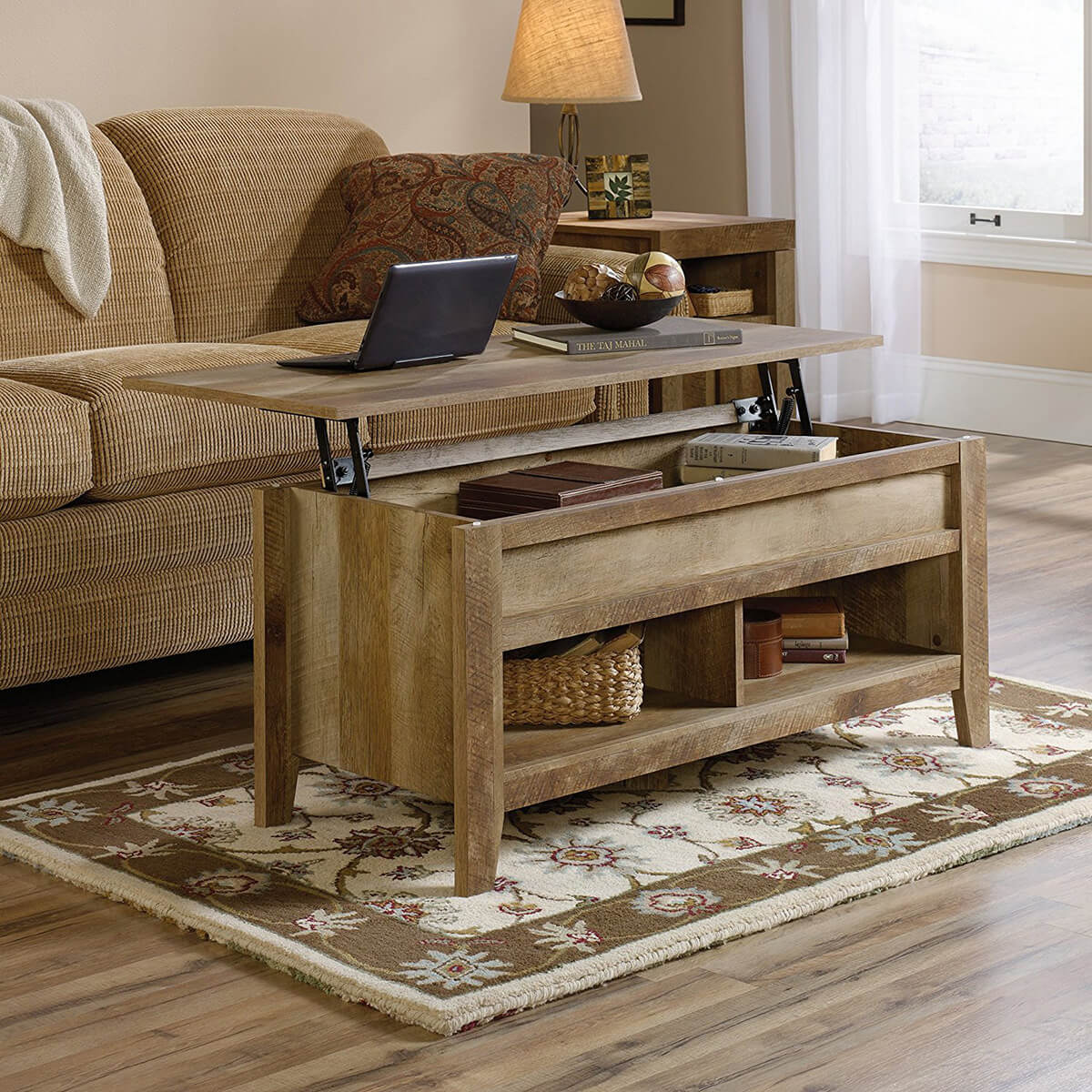Extremely Cool Lift-Top Wooden Table