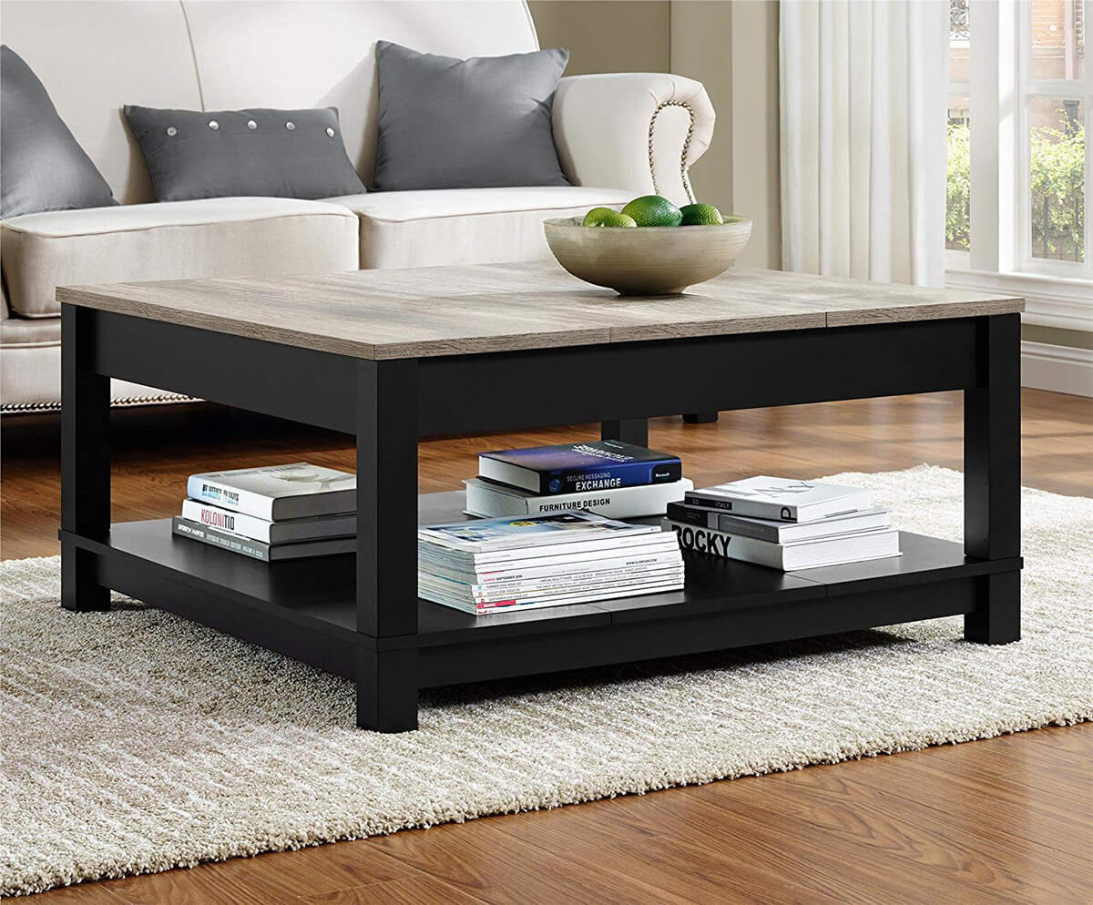 Stunning Black and Grey Wooden Table