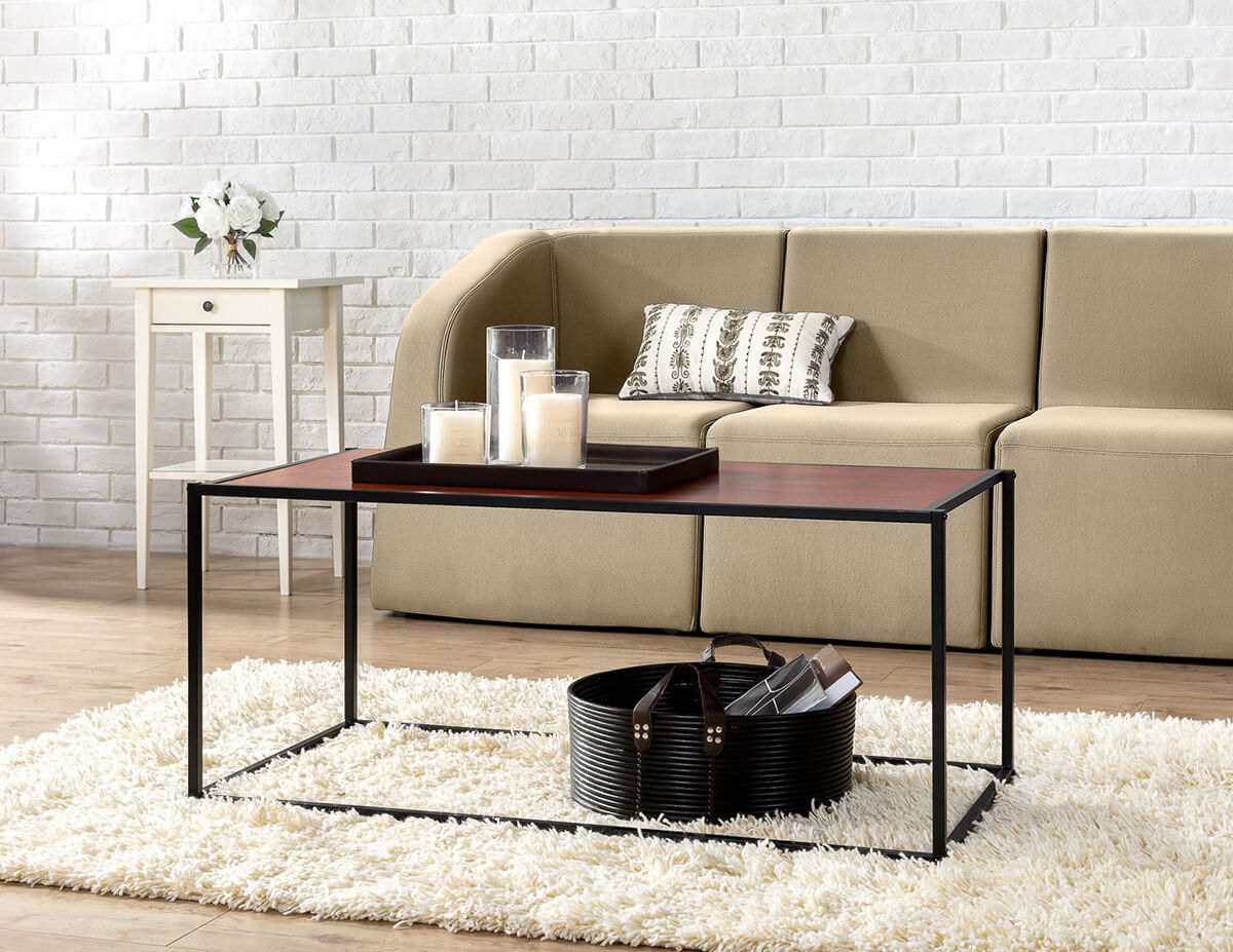 Minimalistic Rectangular and Classic Brown Table