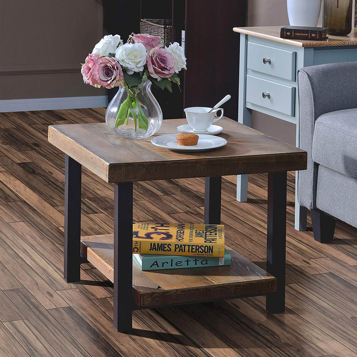 Simple and Small Naturally Rustic Table