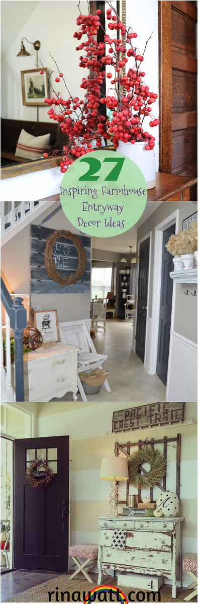 27 Inspiring Farmhouse Entryway Decor Ideas To Bring A Bit Of The Country To Your Door Rina Watt Blogger Home Decor Diy And Recipes