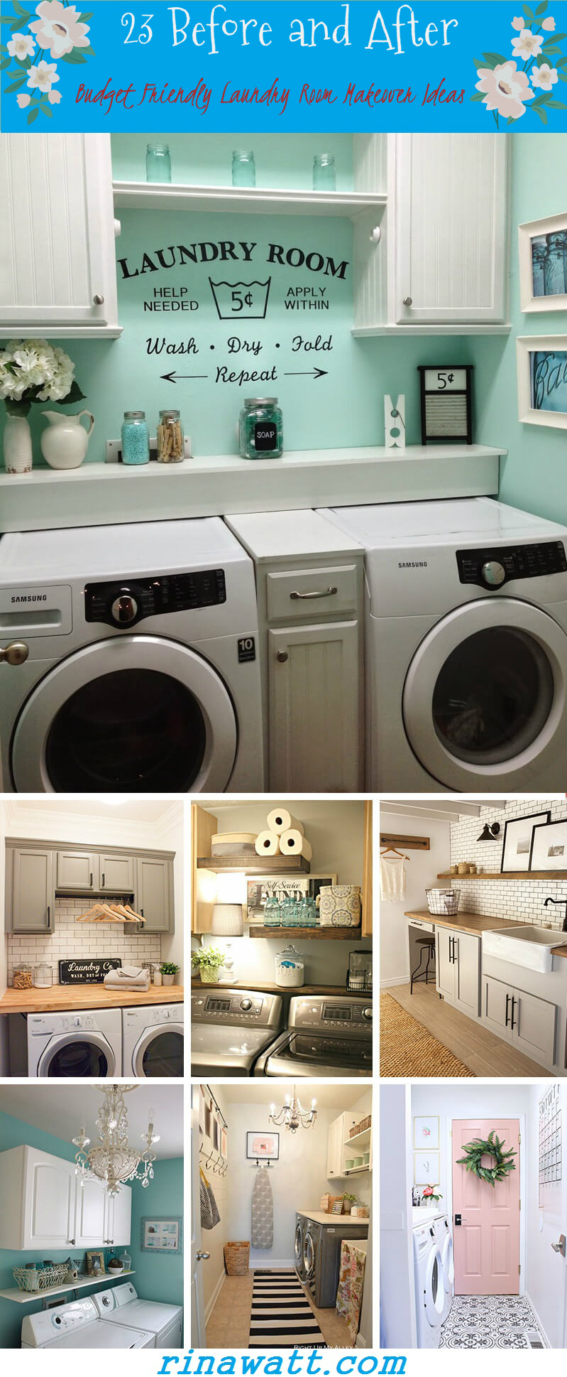 11 Before and After: Budget Friendly Laundry Room Makeover Ideas