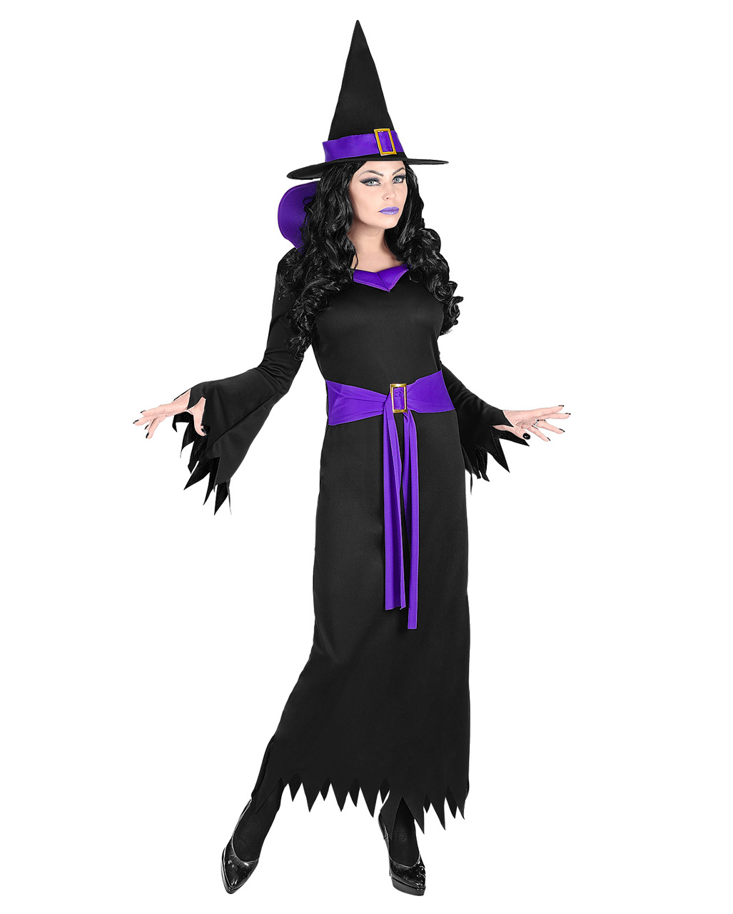 Lavera witch costume-with-belt and witch-hat-Lavera-witch costume-with-belt-and-witch-hat