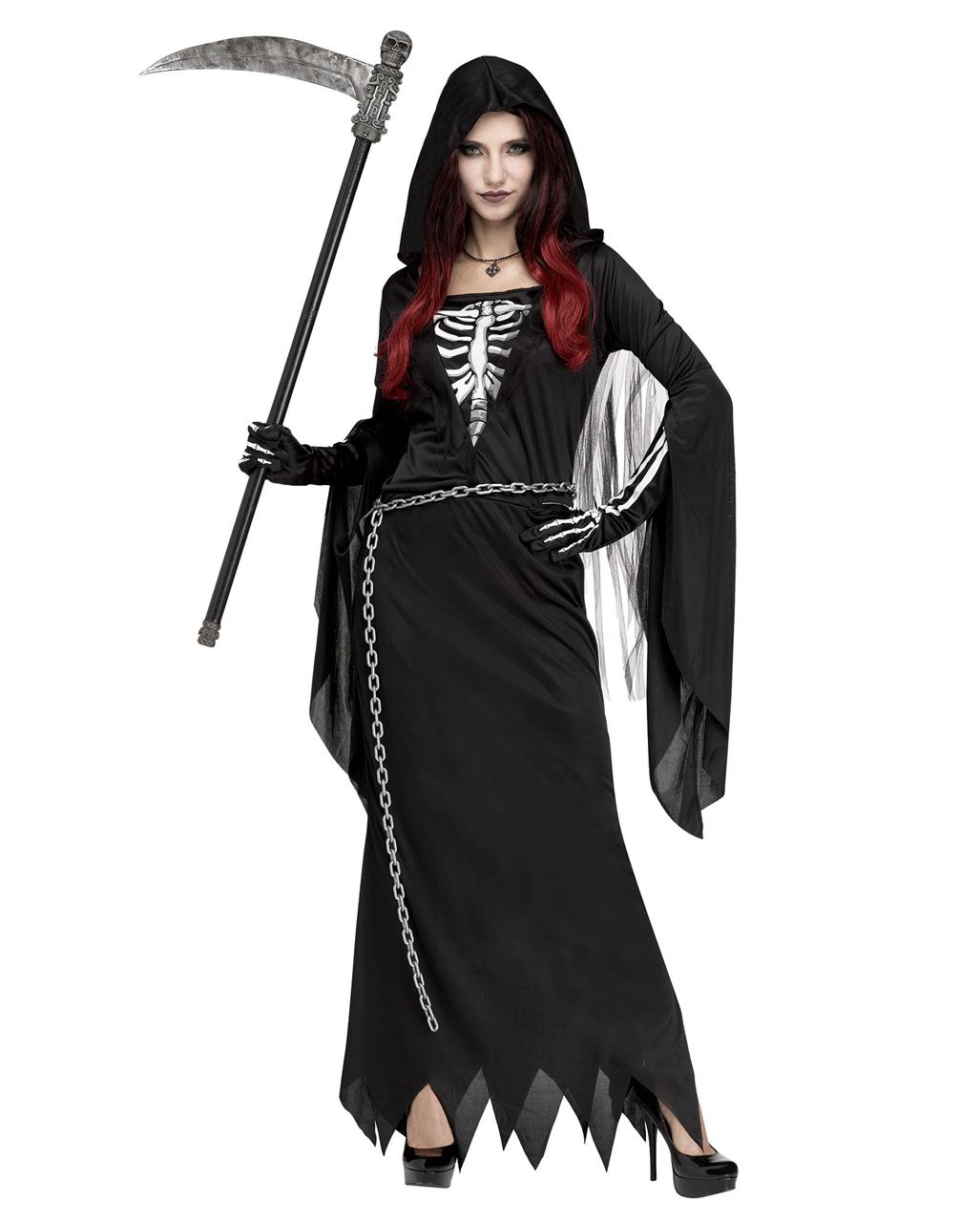 Midnight Man Woman Costume - Halloween Reaper Mens Costume - Grim Reaper Woman Costume